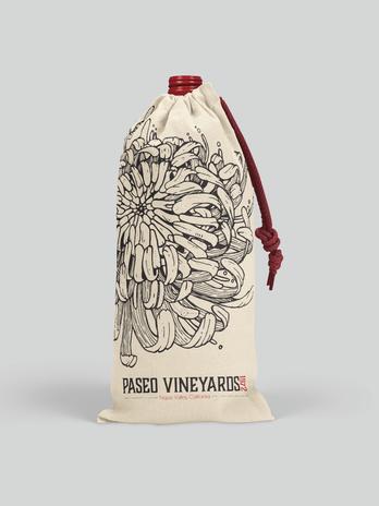 Paseo Vineyards Drawstring Bottle Wine Bag