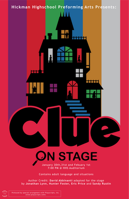 Clue On Stage Musical Poster