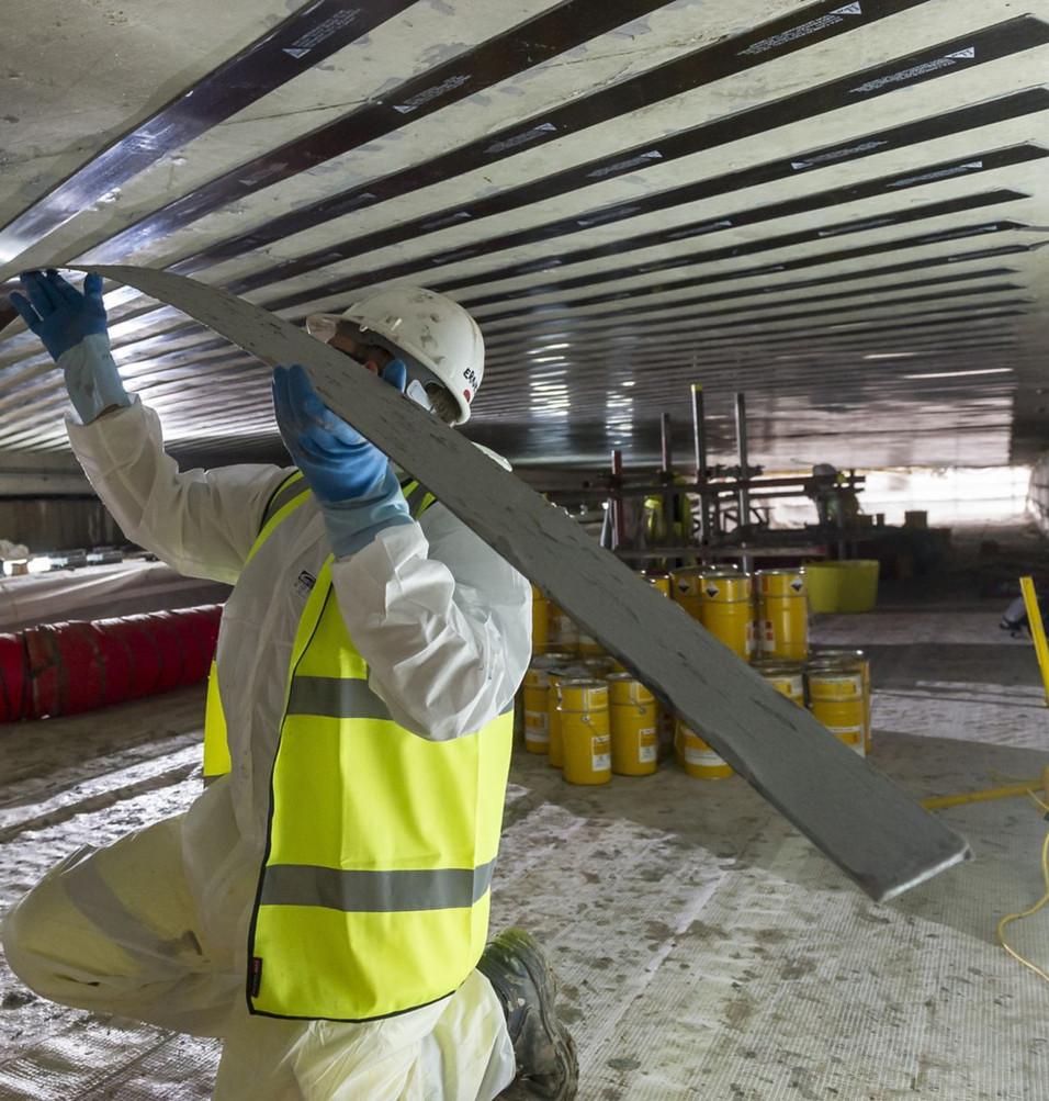 Fiber Reinforced Polymer (FRP) installation