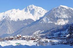 courchevel vista da montanha