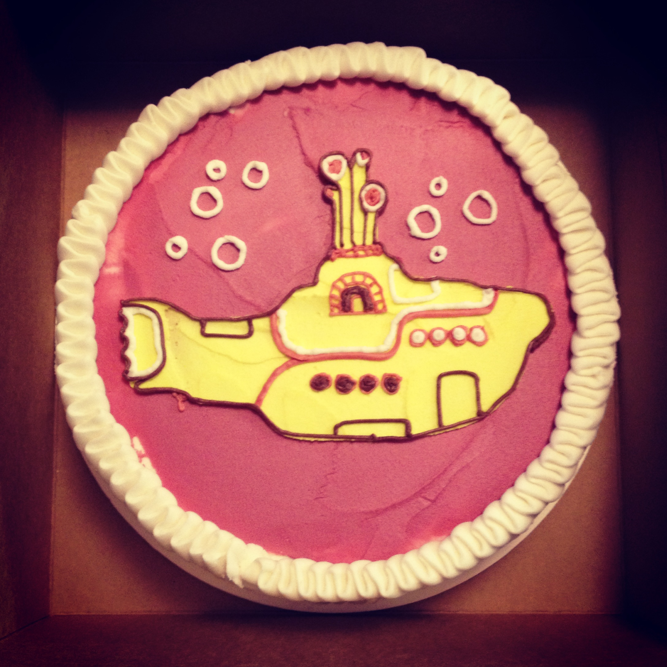 yellow and magenta submarine