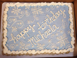 wintry birthday half sheet