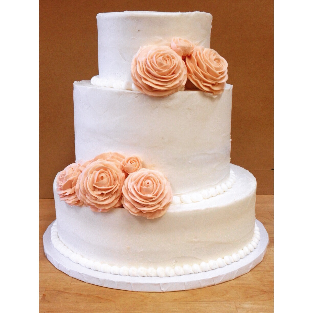 large buttercream rose wedding cake cincinnati