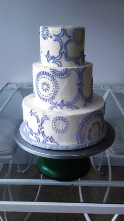 geo tile cincinnati wedding cake