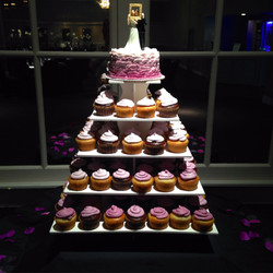 tiered cupcake cake tree cincinnati wedding