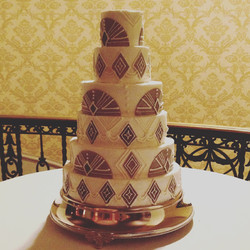 New Year's Eve silver deco wedding cake cincinnati
