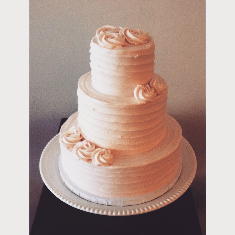 pink charlie rosette wedding cake cincinnati