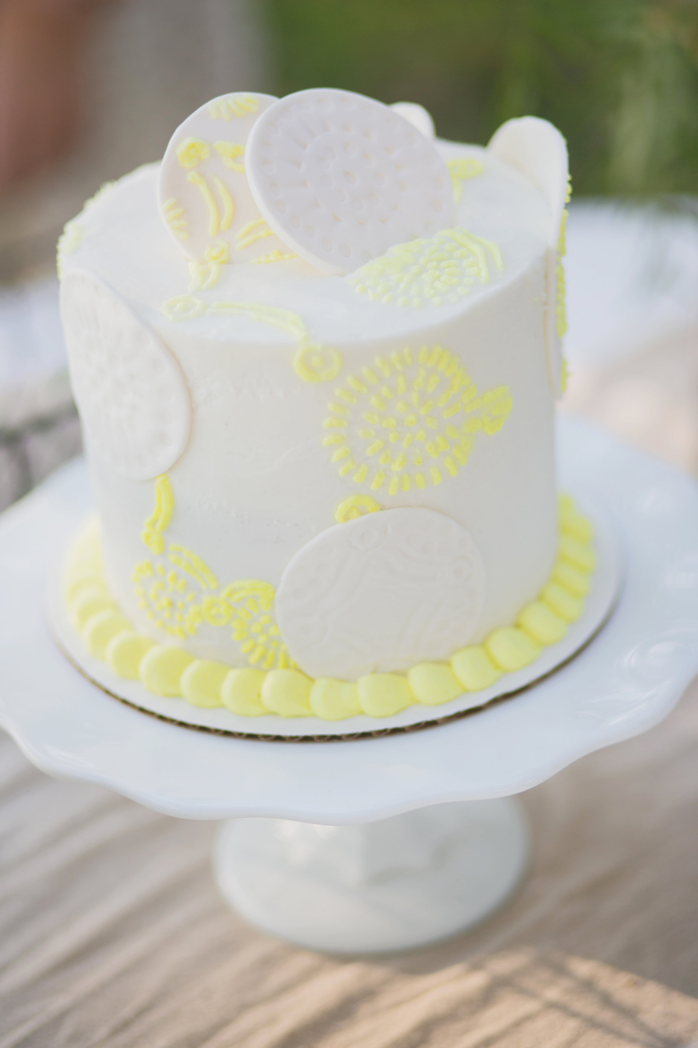 geo yellow wedding cake cincinnati