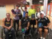 Wheelchair tennis players
