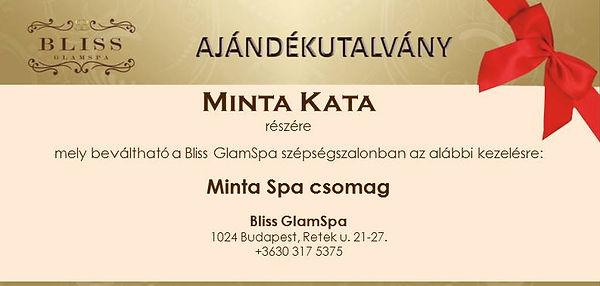 Bliss GlamSpa ajándékutalvány