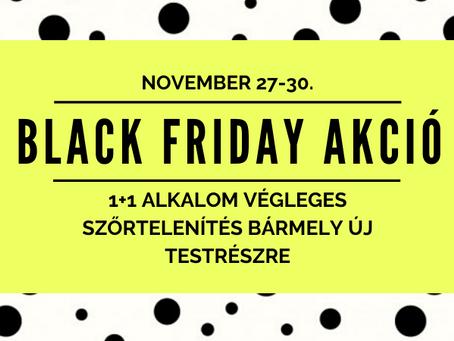 Black Friday Akció végleges szőrtelenítésre