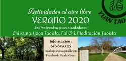 Actividades 2020 al aire libre