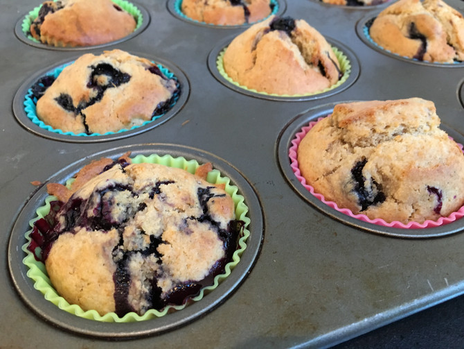 Comforting Whole Wheat Blueberry Muffins