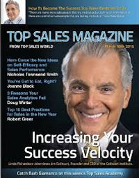 Image of Top SalesWorld Magazine. Link to articles by Nicholas Smith