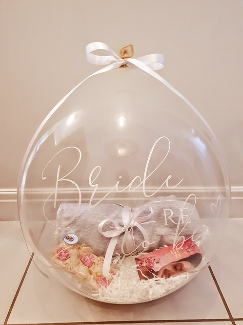Luxe Bride to be Hamper Gift Balloon