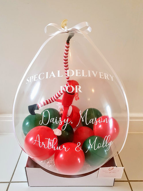 Christmas Naughty Elf Balloon