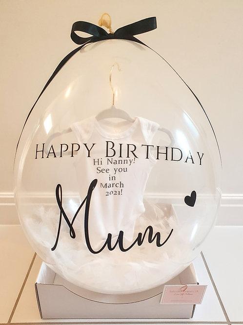 Luxe Baby Announcement Balloon