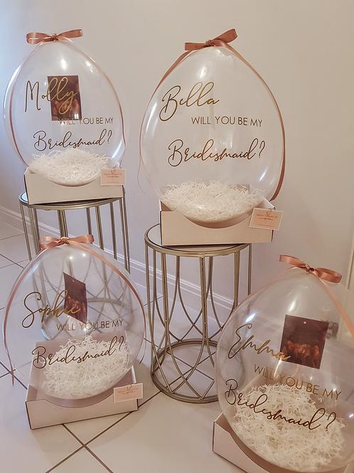 Luxe Bridesmaid Photo Proposal Balloon
