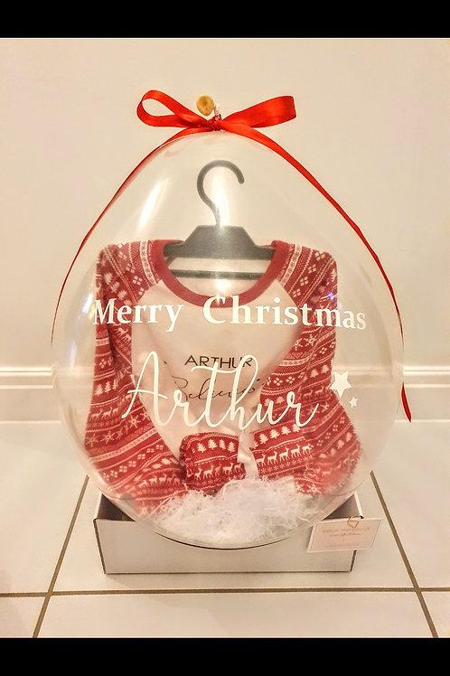 Personalised Christmas Pyjamas Gift Balloon