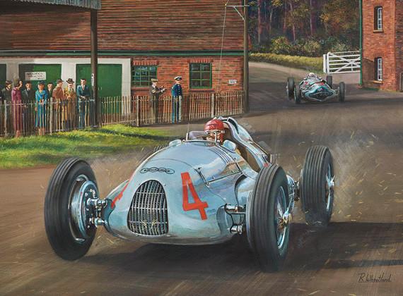 Racing through the farmyard