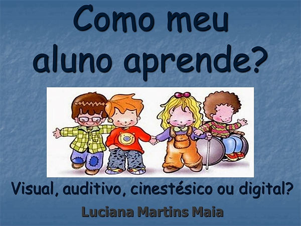 ebook - como meu aluno aprende - visual