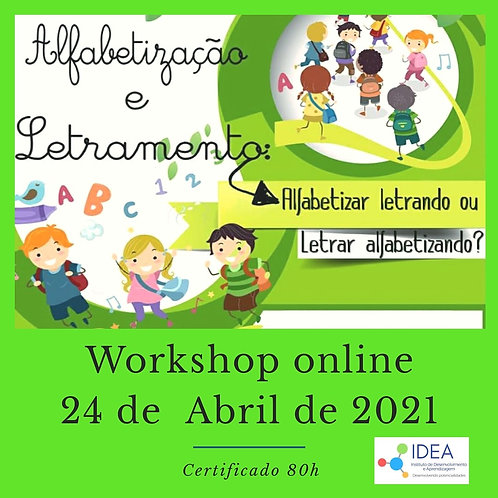 Workshop ALFABETIZAÇÃO E LETRAMENTO