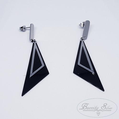 Stainless Steel Long Earrings