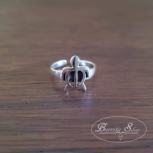 925 Sterling Silver Turtle Toe Ring
