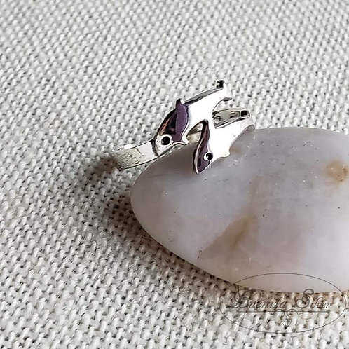 Sterling Silver Dolphins Toe Ring