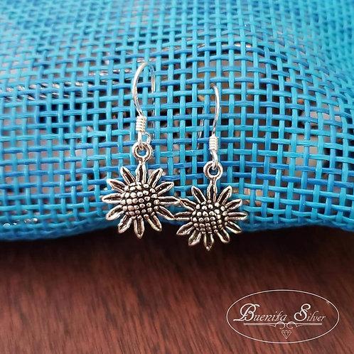 Sterling Silver Sunflower Earrings