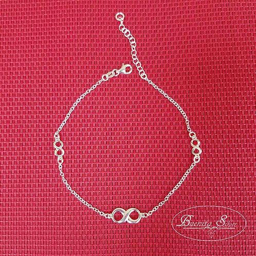 SterlingSilver Infinity  Anklet Bracelet