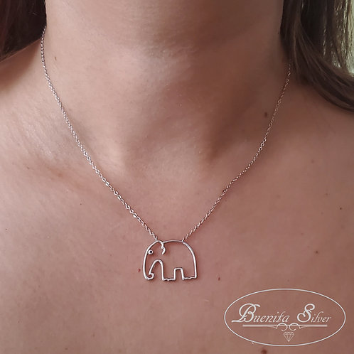 Sterling Silver Elephant 🐘  Pendant Necklace