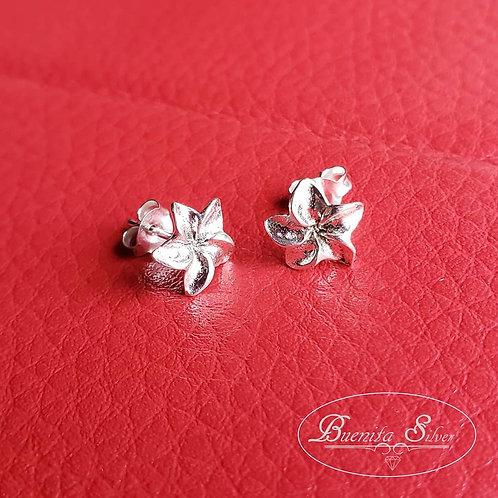 Sterling Silver Flower Studs Earrings