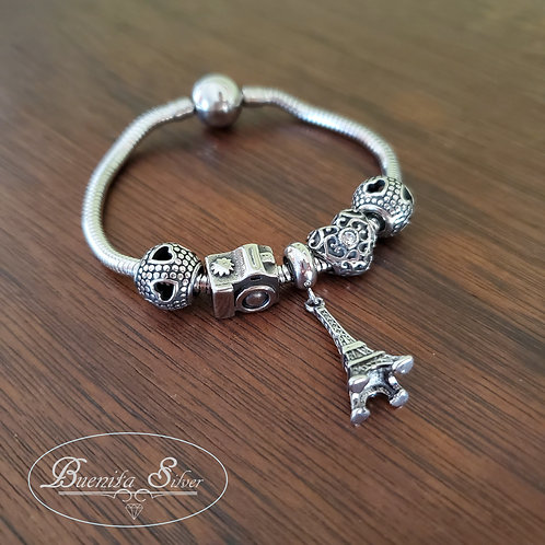 Stainless Steel Assorted Charms Bracelet