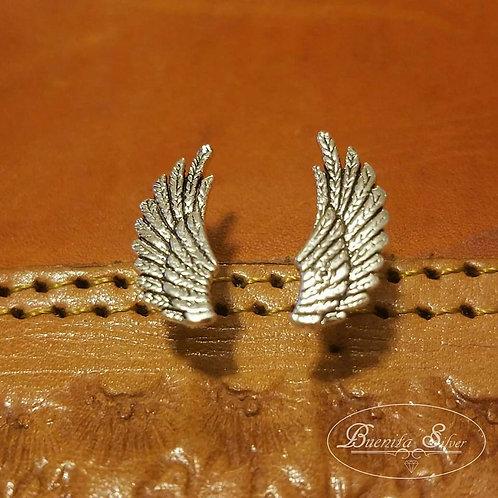 Sterling Silver Wings Earrings