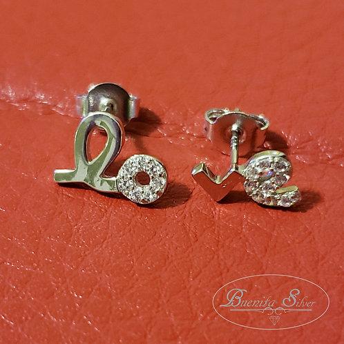 """Sterling Silver """"Love"""" Earrings"""