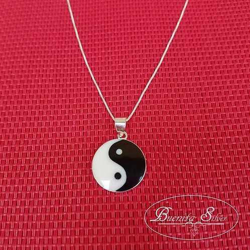 Sterling Silver Yin Yang Pendant Necklace