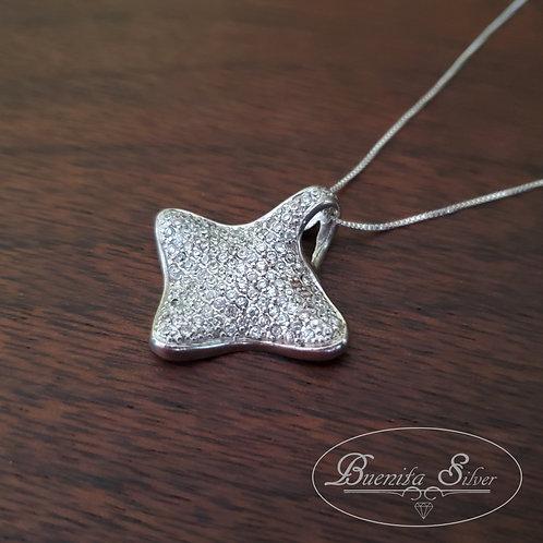 Sterling Silver CZ Pendant Necklace