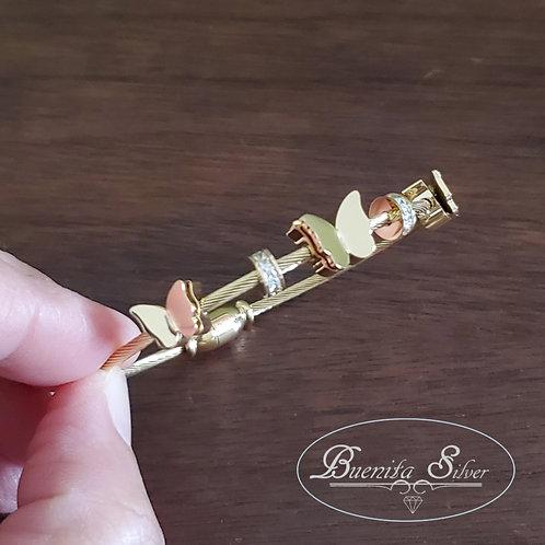 Stainless Steel Butterflies Bracelet