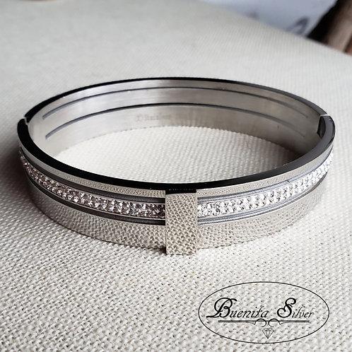 Stainless Steel CZ Bracelet