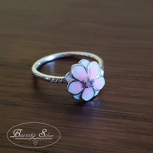 Sterling Silver Enamel Flower