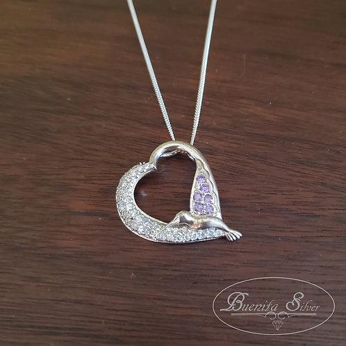 Sterling Silver Colibri Bird Pendant Necklace