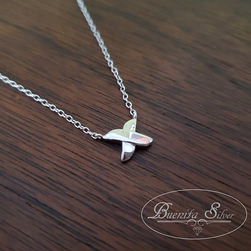 """Sterling Silver """"X"""" Necklace"""