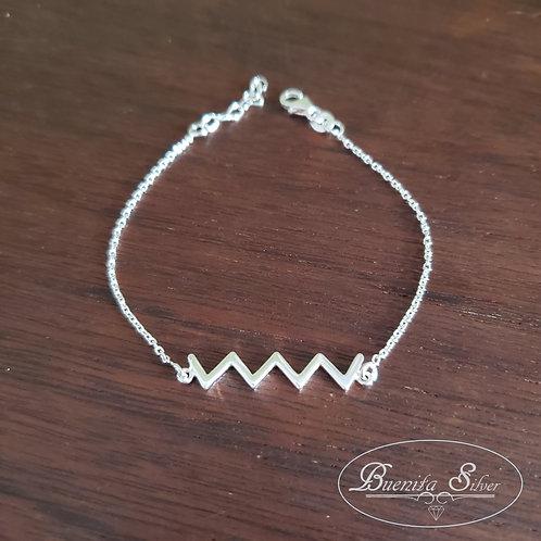Sterling Silver ZigZag Bracelet