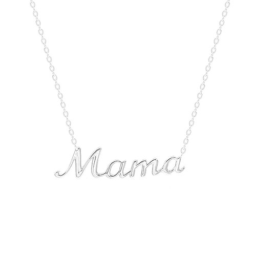 Sterling Silver Mama Pendant Necklace