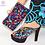 Thumbnail: Matching Italian Shoes and Bag Set - Rhinestone Italian Ladies Shoe and Bag