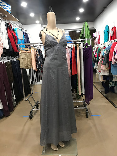 Grey Sleeveless Evening Dress