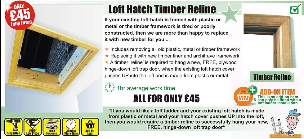 loft ladder hatch wood