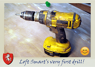 loft ladder dewalt drill