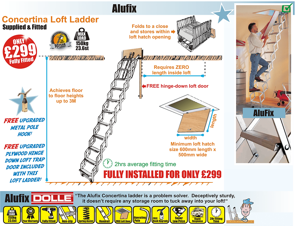 loft ladder instructions